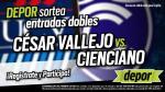 César Vallejo vs. Cienciano: estos son los ganadores de las 25 entradas dobles - Noticias de eduardo celis
