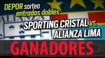Sporting Cristal vs. Alianza Lima: estos son los ganadores de las 10 entradas dobles - Noticias de remigio huaman