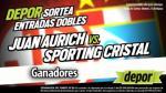Juan Aurich vs. Sporting Cristal: estos son los ganadores de las 20 entradas dobles - Noticias de luis gonzales llontop