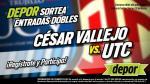 César Vallejo vs. UTC: estos son los ganadores de las entradas dobles para el partido en Trujillo - Noticias de cynthia garcia