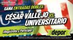 César Vallejo vs. Universitario: estos son los gandores de las 25 entradas dobles - Noticias de elmer alfaro