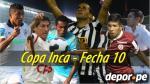 Copa Inca 2014: esta es la programación de la décima fecha del torneo - Noticias de simon estadio heraclio tapia hora