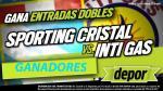 Sporting Cristal vs. Inti Gas: estos son los ganadores de la entradas dobles - Noticias de pamela valdivieso